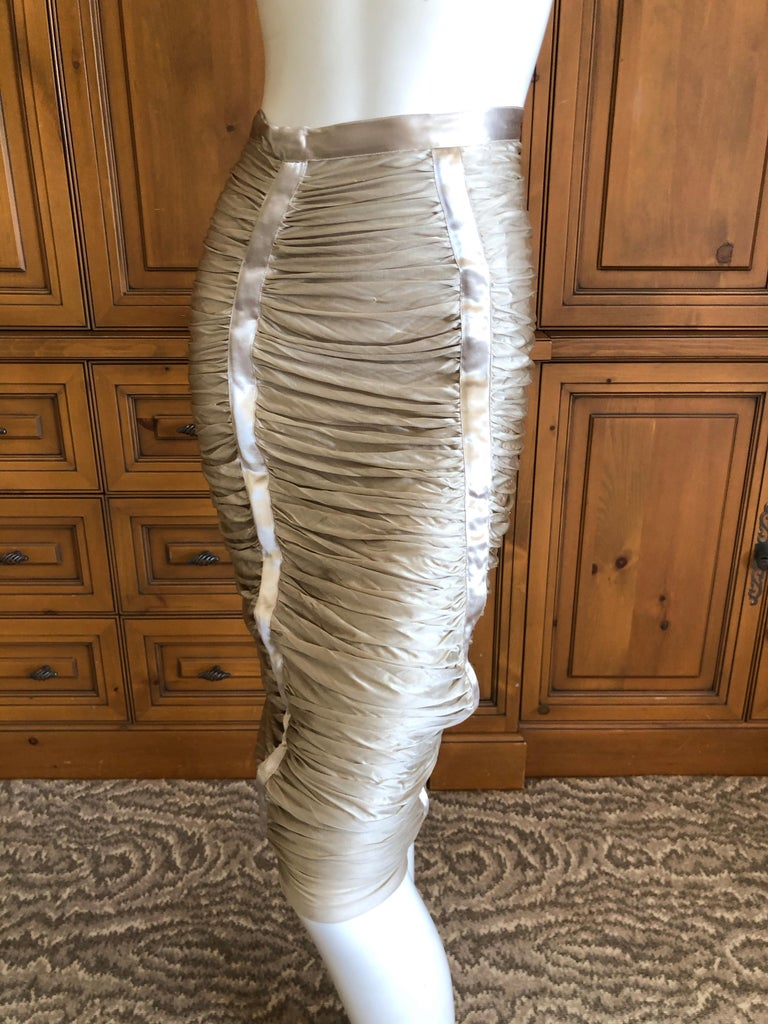 Yves Saint Laurent by Tom Ford Parachute Draped Skirt For Sale 1