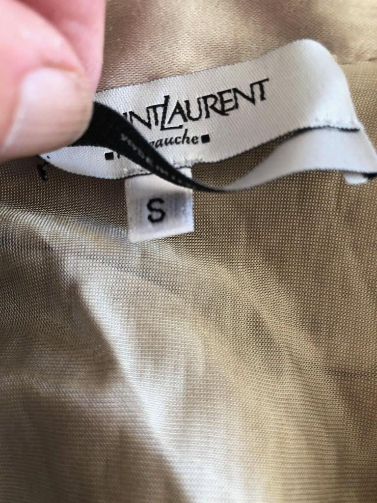 Yves Saint Laurent by Tom Ford Parachute Draped Skirt For Sale 2