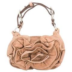 Yves Saint Laurent Camel Suede Mini Bag