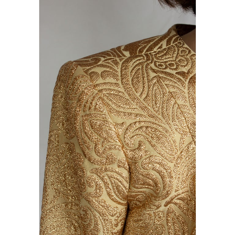 Yves Saint Laurent Chinese collection gold brocade skirt ensemble.circa 1980 For Sale 1
