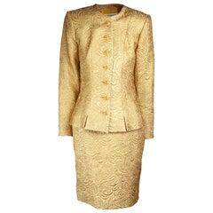 Yves Saint Laurent Chinese collection gold brocade skirt ensemble.circa 1980