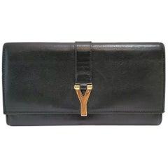 Yves Saint Laurent Classic Y Ligue Black Clutch Handbag