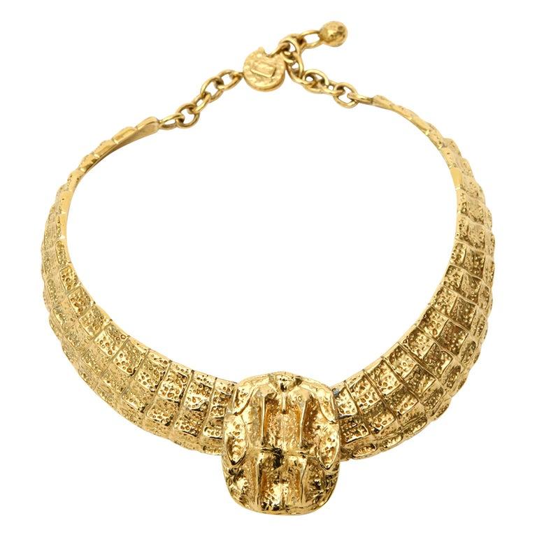 Yves Saint Laurent Collar Necklace Vintage For Sale