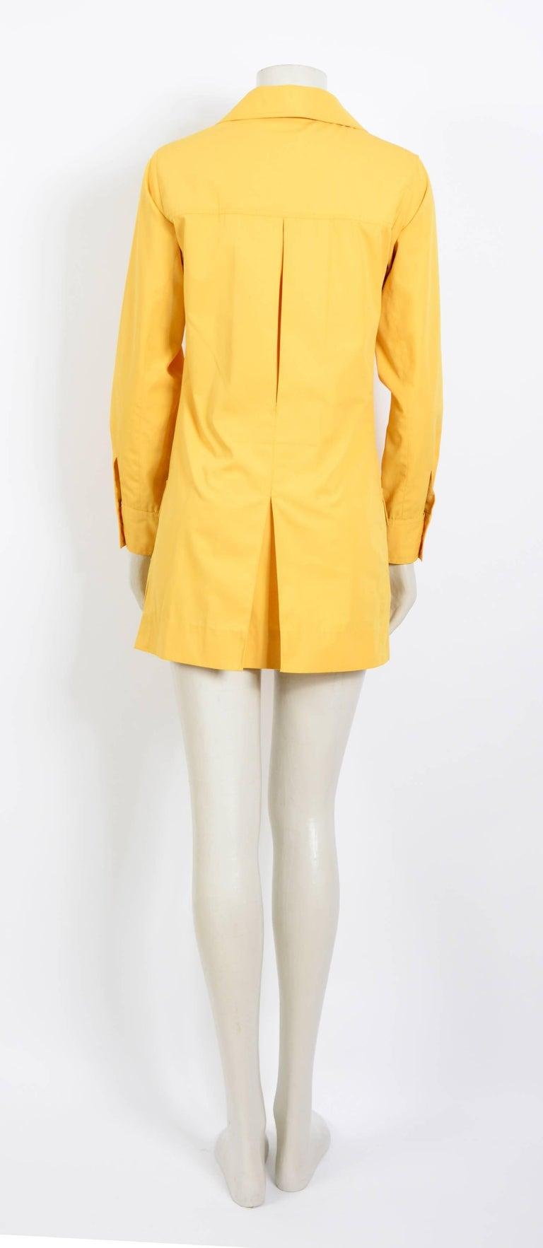 Yves Saint Laurent corn safari tunic, 1968 collection as seen on Betty Catroux For Sale 1