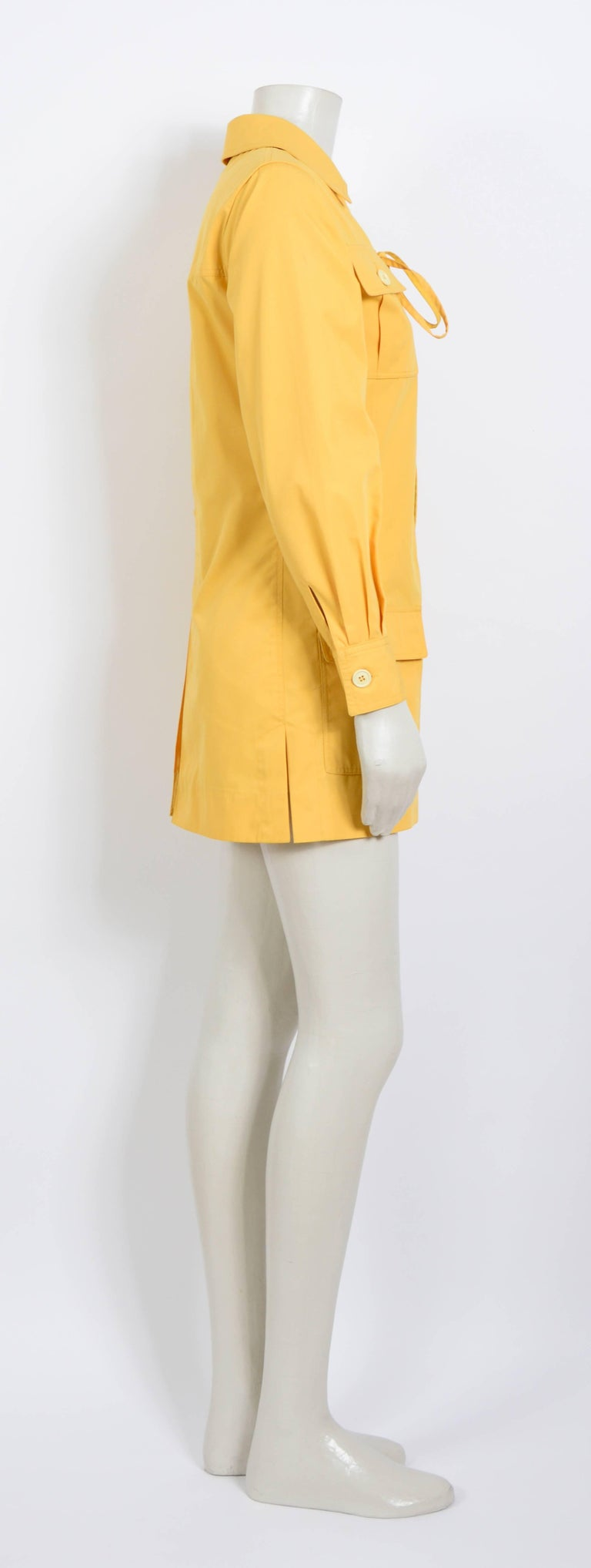 Yves Saint Laurent corn safari tunic, 1968 collection as seen on Betty Catroux For Sale 2