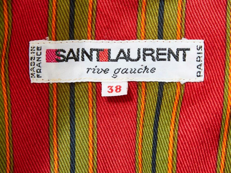 Women's Yves Saint Laurent Cotton Gaberdine Double Breasted Blazer For Sale