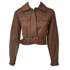 Yves Saint Laurent Cotton Twill Bomber Jacket