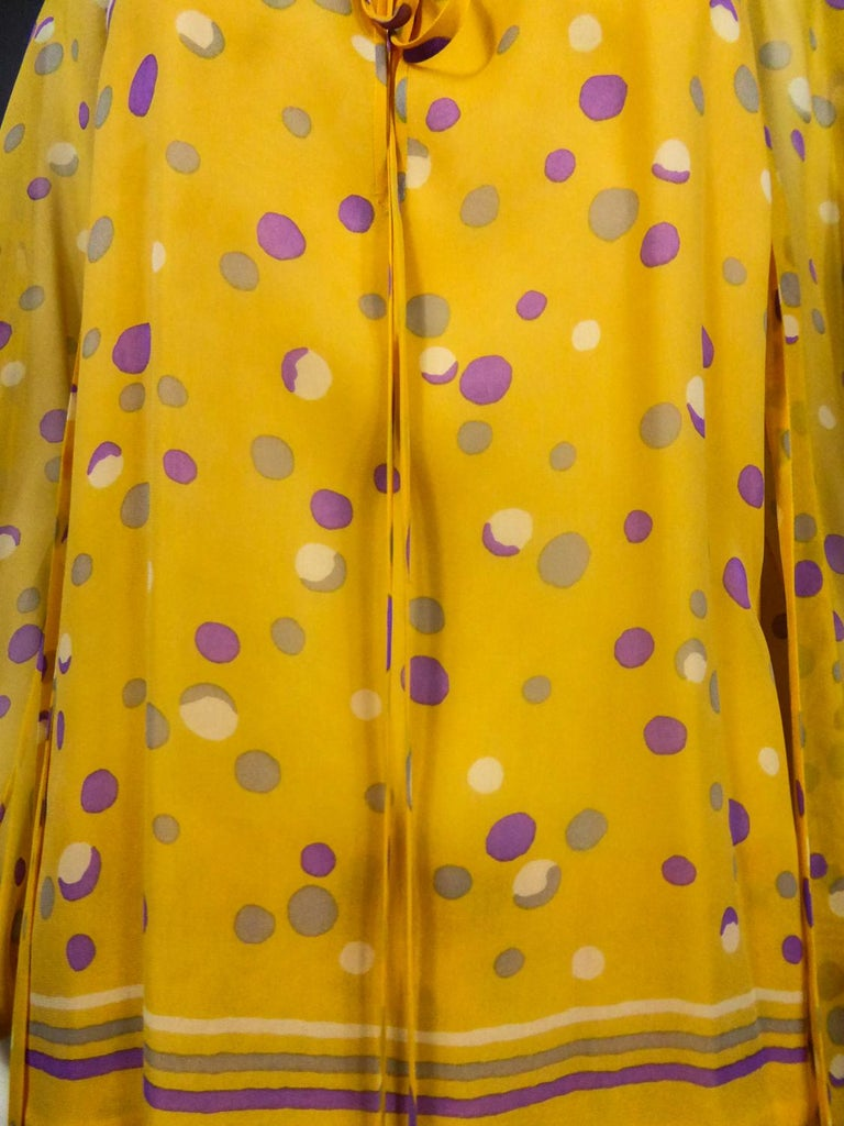 Yves Saint Laurent Couture Chiffon Blouse and Skirt Numbered 39377 Circa 1975 For Sale 4