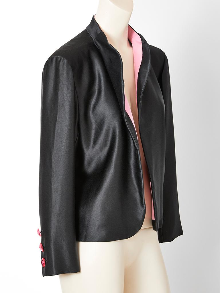 Yves Saint Laurent Couture Satin Evening Jacket In Good Condition For Sale In New York, NY