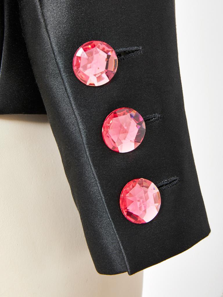 Yves Saint Laurent Couture Satin Evening Jacket For Sale 1