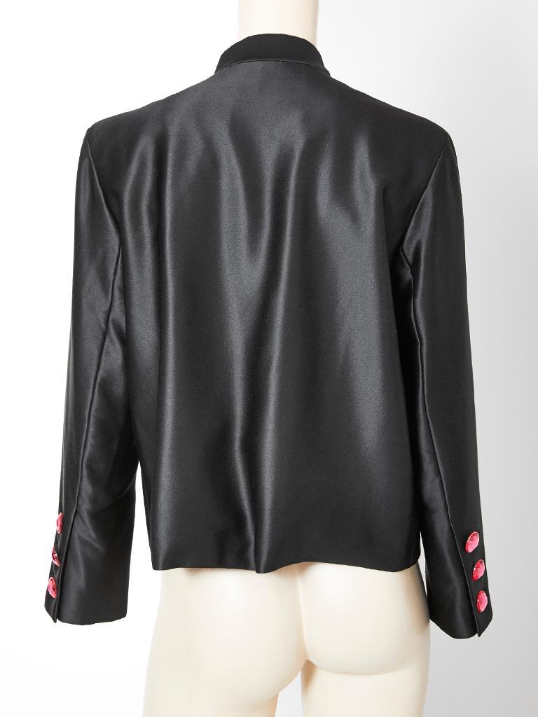 Yves Saint Laurent Couture Satin Evening Jacket For Sale 2