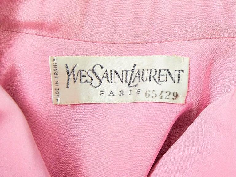 Yves Saint Laurent Couture Satin Evening Jacket For Sale 3