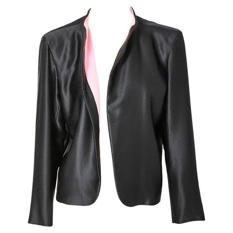 Yves Saint Laurent Couture Satin Evening Jacket For Sale