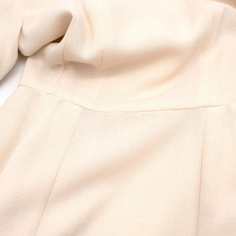 Women's or Men's Yves Saint Laurent Cream Textured Silk Dress - Size XS For Sale