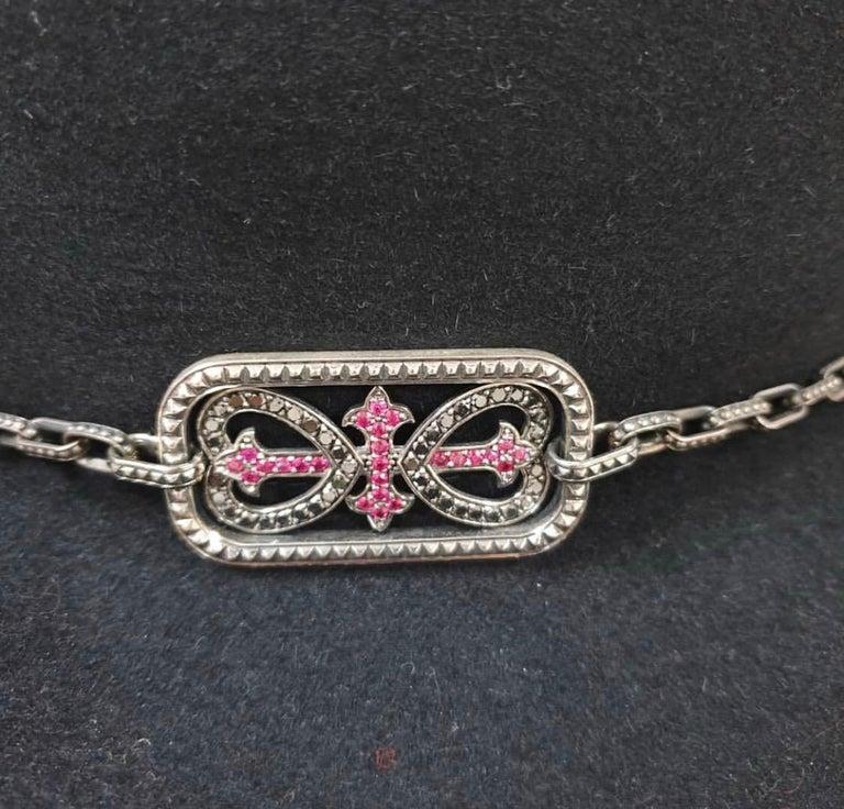 Women's Yves Saint Laurent Diamonds Sapphires Felt Hat For Sale