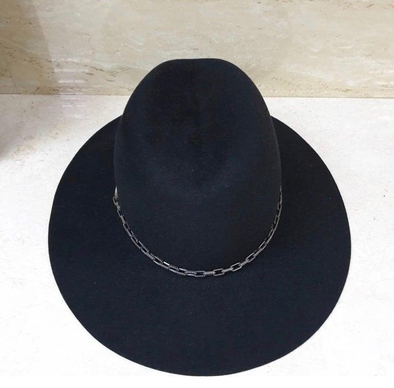 Yves Saint Laurent Diamonds Sapphires Felt Hat For Sale 1