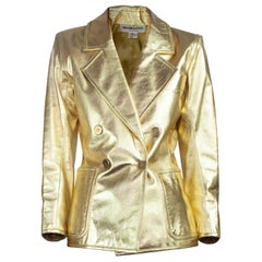 Yves Saint Laurent documented  gold leather jacket. Circa 1970s