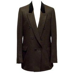 Yves Saint Laurent Double Breasted Brown Blazer 52R