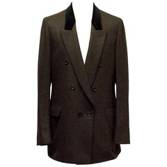 Yves Saint Laurent Double Breasted Brown Blazer - Size XL EU 52R