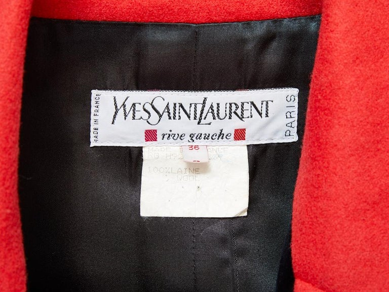 Yves Saint Laurent Double Breasted Coat  For Sale 1