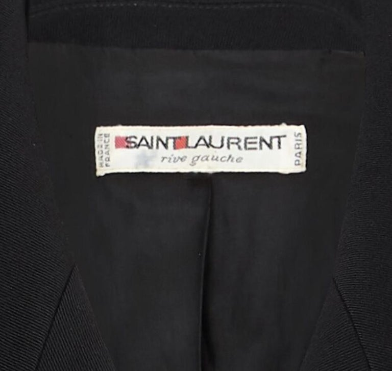 Women's Yves Saint Laurent Early 1990s Black Double Breasted Short Jacket For Sale