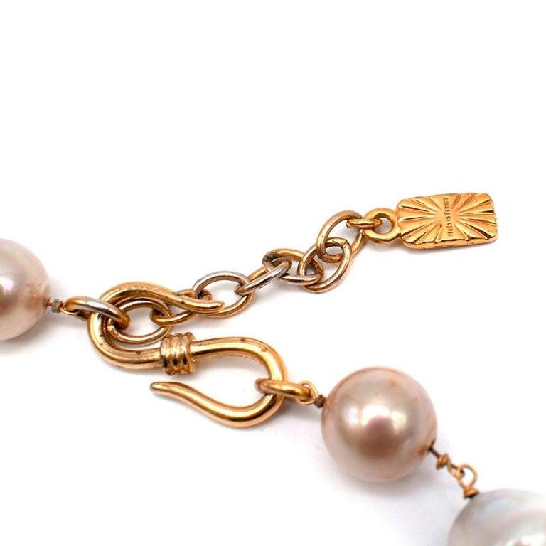 Yves Saint Laurent Faux-Pearl Chain Belt M For Sale 1