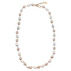 Yves Saint Laurent Faux-Pearl Chain Belt M