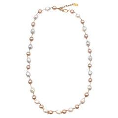 Yves Saint Laurent Faux-Pearl Chain Belt - Size Medium