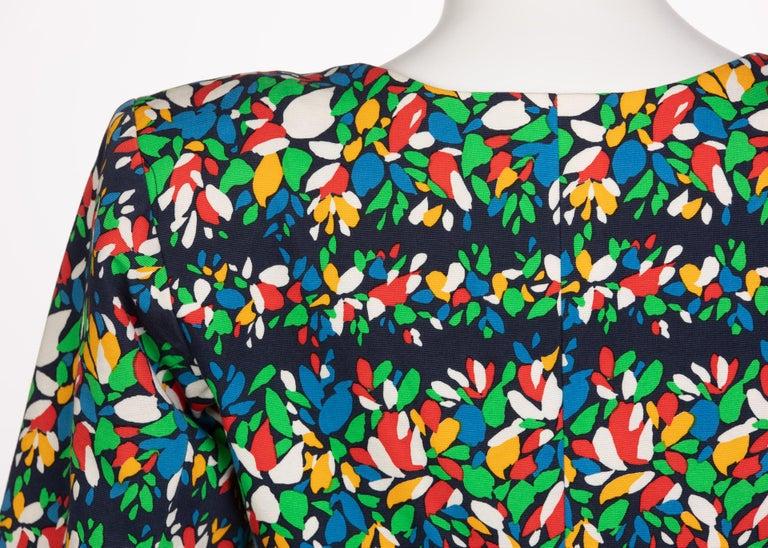 Yves Saint Laurent Floral Peplum Jacket Top, 1990s For Sale 2