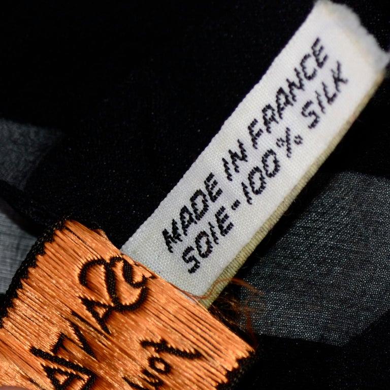 Yves Saint Laurent Foulards Silk Oversized Large Black Sheer Scarf or Shawl Wrap For Sale 5
