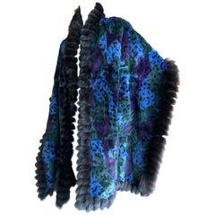 Yves Saint Laurent Fourrures Luxurious Vintage Leopard Pattern Fur Cape
