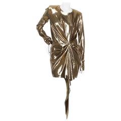 Yves Saint Laurent Gold Dress S/S 2017 RTW