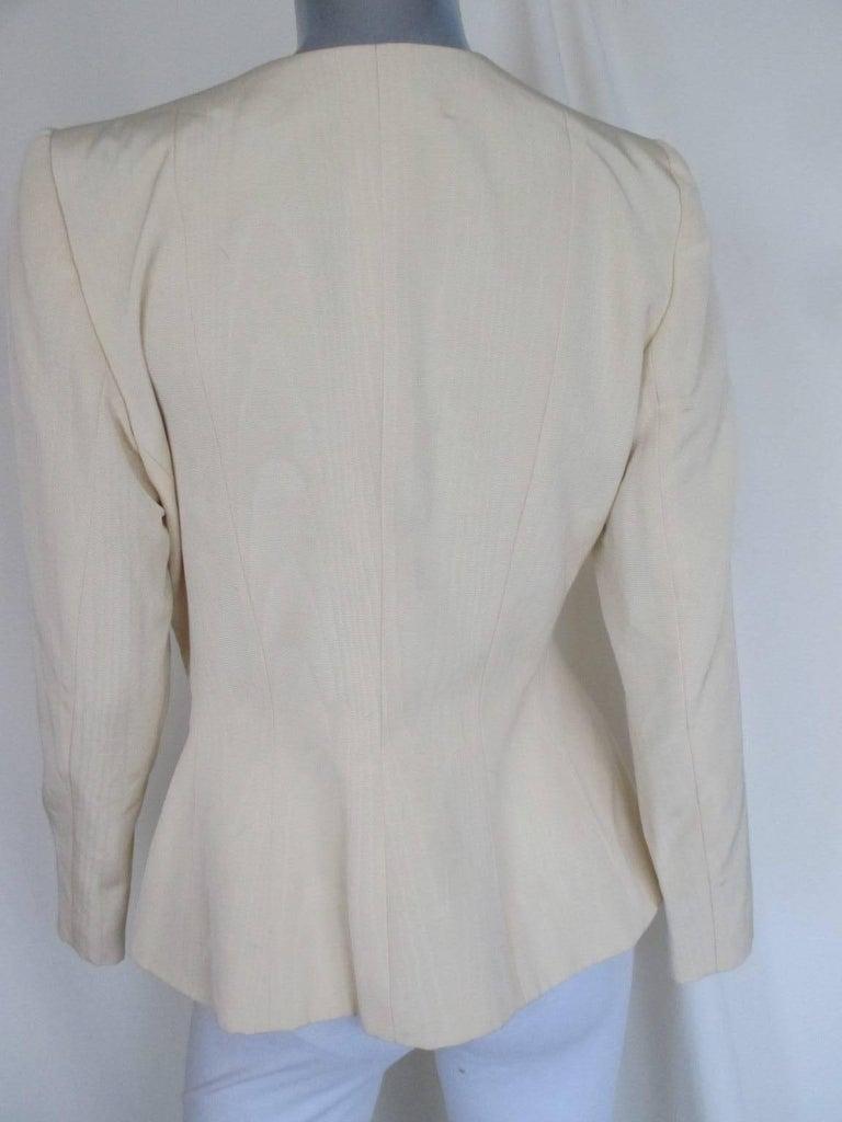 Black yves saint laurent gold heart buttons jacket For Sale