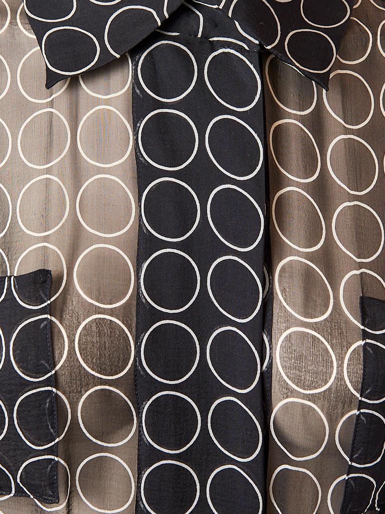 Women's Yves Saint Laurent Graphic Print Chiffon Maxi Dress For Sale