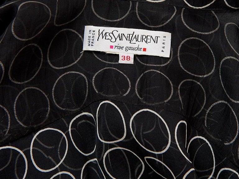 Yves Saint Laurent Graphic Print Chiffon Maxi Dress For Sale 1