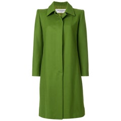 Yves Saint Laurent Green Wool Coat