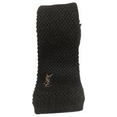 Yves Saint Laurent green wool tie