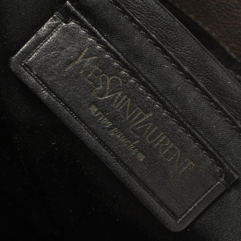 Yves Saint Laurent Grey Leather Sac Bow Hobo For Sale 5