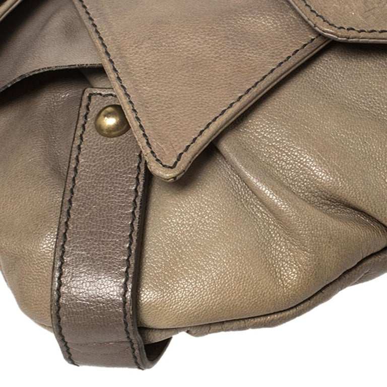 Yves Saint Laurent Grey Leather Sac Bow Hobo For Sale 3