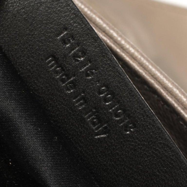 Yves Saint Laurent Grey Leather Sac Bow Hobo For Sale 4
