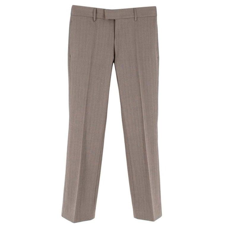 Women's Yves Saint Laurent Grey Striped Wool Suit L 50  For Sale