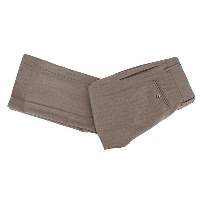 Yves Saint Laurent Grey Striped Wool Suit L 50  For Sale 1