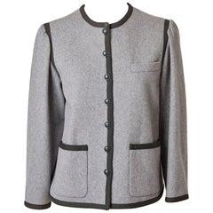 Yves Saint Laurent Grey Wool Flannel Jacket