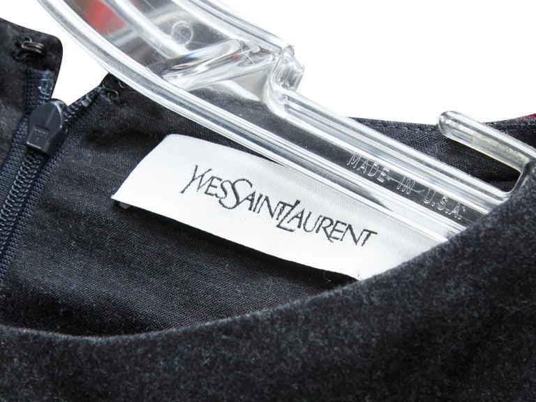 Women's Yves Saint Laurent Grey Wool Sheath Dress For Sale
