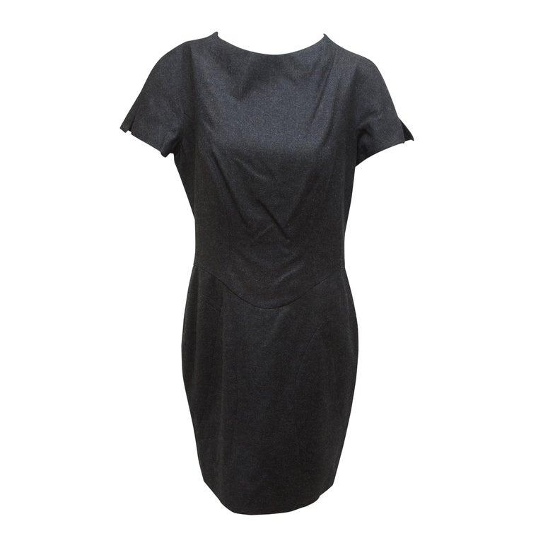 Yves Saint Laurent Grey Wool Sheath Dress For Sale