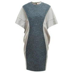 Yves Saint Laurent Grey Wool & Tweed Inset Panel Autumn/Winter 2008 Dress