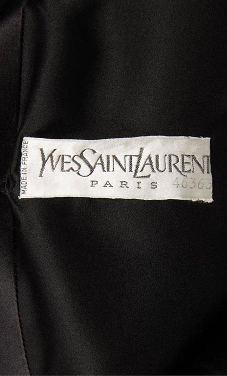 Women's Yves Saint Laurent, Haute couture black dress, Autumn/Winter 1979 For Sale