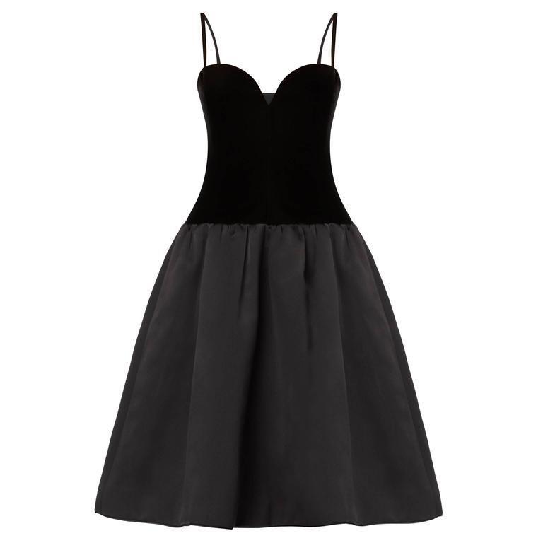 Yves Saint Laurent, Haute couture black dress, Autumn/Winter 1979 For Sale