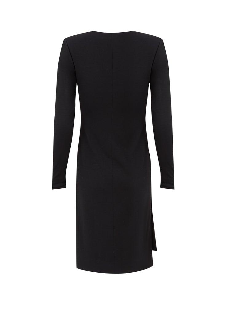 Yves Saint Laurent Haute Couture Wrap Dress black, Circa 1983