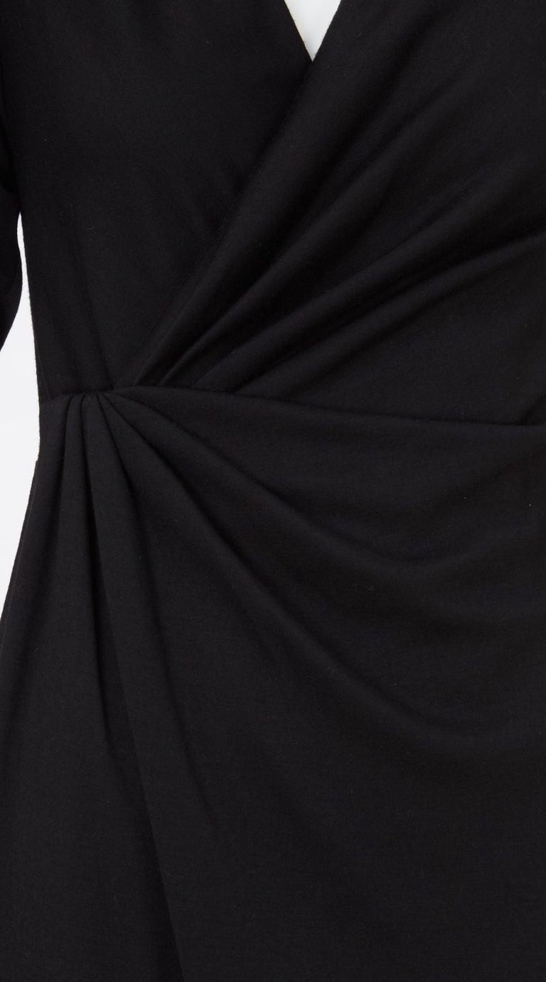 Black Yves Saint Laurent Haute Couture Dress black, Circa 1983 For Sale